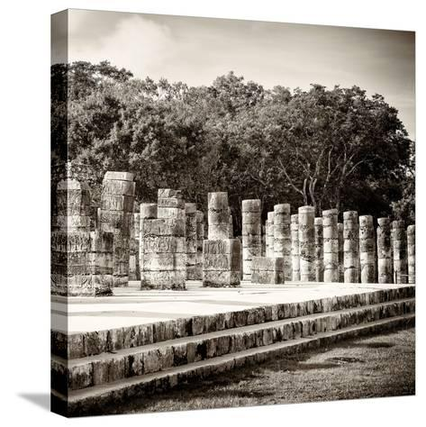 ¡Viva Mexico! Square Collection - One Thousand Mayan Columns in Chichen Itza-Philippe Hugonnard-Stretched Canvas Print