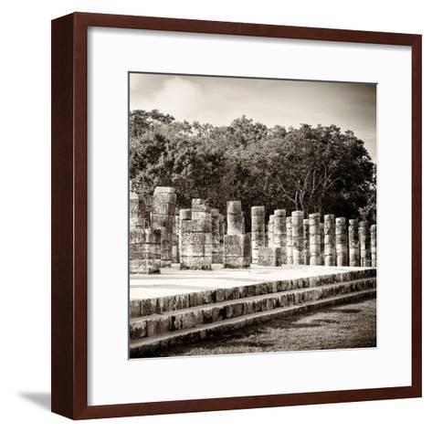 ¡Viva Mexico! Square Collection - One Thousand Mayan Columns in Chichen Itza-Philippe Hugonnard-Framed Art Print