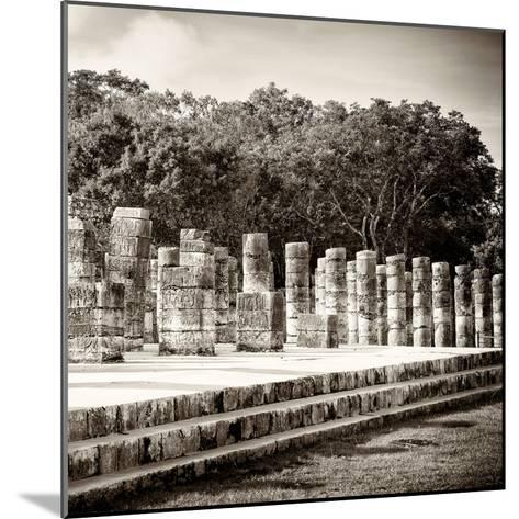 ¡Viva Mexico! Square Collection - One Thousand Mayan Columns in Chichen Itza-Philippe Hugonnard-Mounted Photographic Print