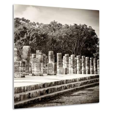 ¡Viva Mexico! Square Collection - One Thousand Mayan Columns in Chichen Itza-Philippe Hugonnard-Metal Print