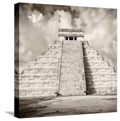 ¡Viva Mexico! Square Collection - Chichen Itza Pyramid VI-Philippe Hugonnard-Stretched Canvas Print