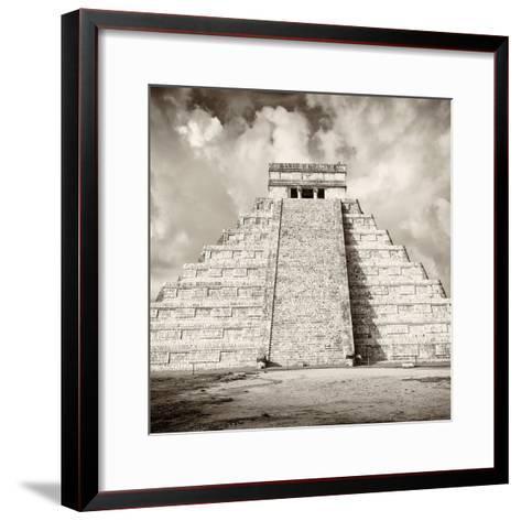 ¡Viva Mexico! Square Collection - Chichen Itza Pyramid VI-Philippe Hugonnard-Framed Art Print