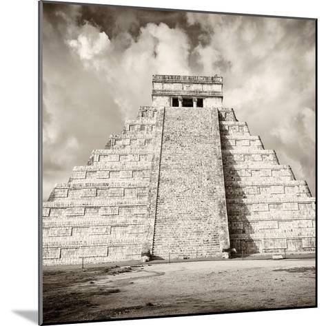¡Viva Mexico! Square Collection - Chichen Itza Pyramid VI-Philippe Hugonnard-Mounted Photographic Print