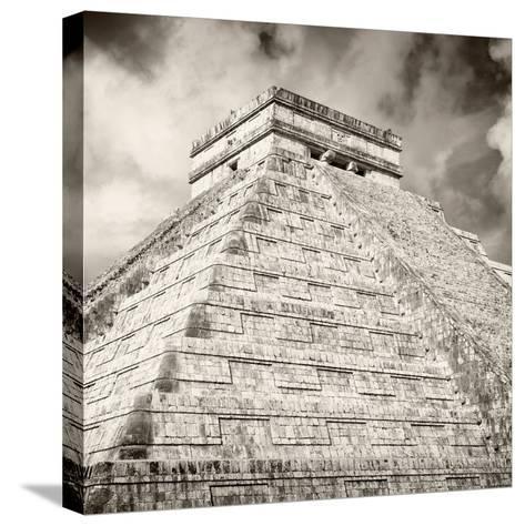 ¡Viva Mexico! Square Collection - Chichen Itza Pyramid X-Philippe Hugonnard-Stretched Canvas Print