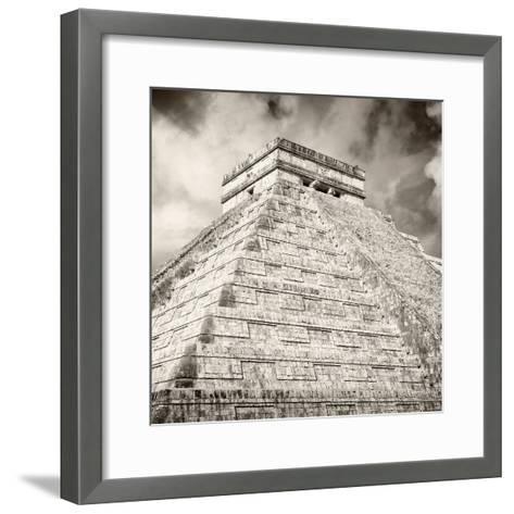 ¡Viva Mexico! Square Collection - Chichen Itza Pyramid X-Philippe Hugonnard-Framed Art Print