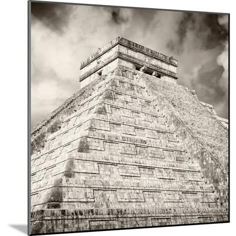 ¡Viva Mexico! Square Collection - Chichen Itza Pyramid X-Philippe Hugonnard-Mounted Photographic Print