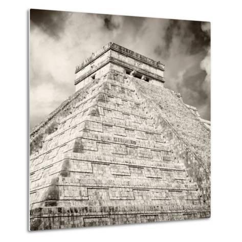 ¡Viva Mexico! Square Collection - Chichen Itza Pyramid X-Philippe Hugonnard-Metal Print
