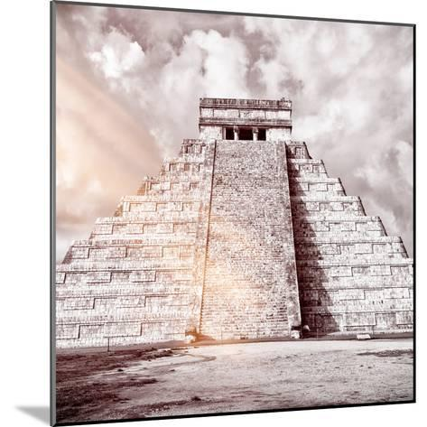 ¡Viva Mexico! Square Collection - Chichen Itza Pyramid VIII-Philippe Hugonnard-Mounted Photographic Print