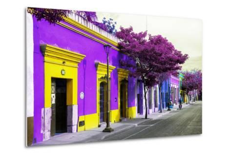 ¡Viva Mexico! Collection - Colorful Mexican Street III - Oaxaca-Philippe Hugonnard-Metal Print
