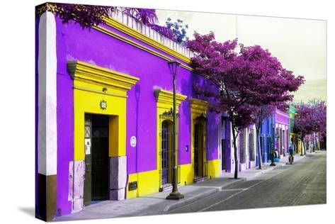 ¡Viva Mexico! Collection - Colorful Mexican Street III - Oaxaca-Philippe Hugonnard-Stretched Canvas Print