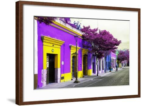 ¡Viva Mexico! Collection - Colorful Mexican Street III - Oaxaca-Philippe Hugonnard-Framed Art Print