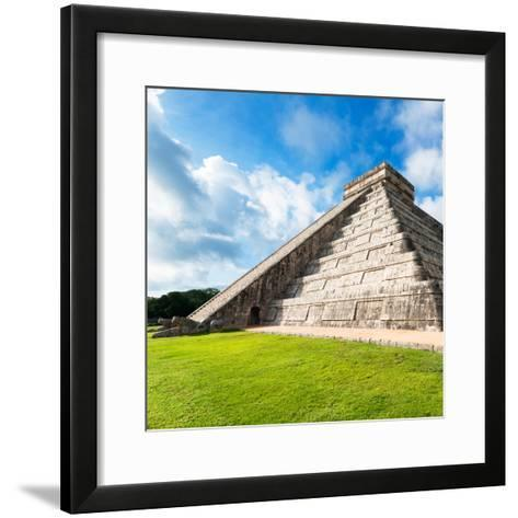 ¡Viva Mexico! Square Collection - Chichen Itza Pyramid XII-Philippe Hugonnard-Framed Art Print