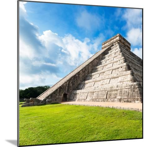 ¡Viva Mexico! Square Collection - Chichen Itza Pyramid XII-Philippe Hugonnard-Mounted Photographic Print