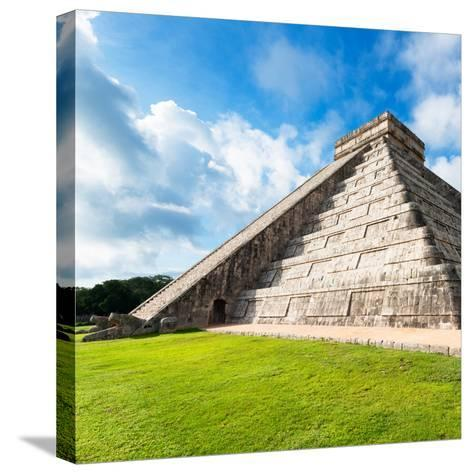 ¡Viva Mexico! Square Collection - Chichen Itza Pyramid XII-Philippe Hugonnard-Stretched Canvas Print