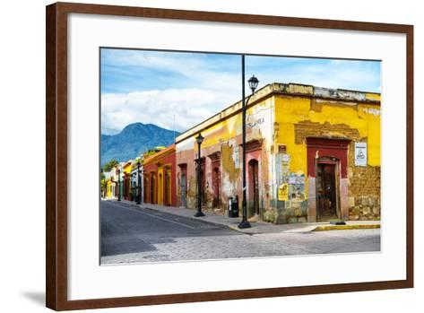 ¡Viva Mexico! Collection - Oaxaca City Street-Philippe Hugonnard-Framed Art Print