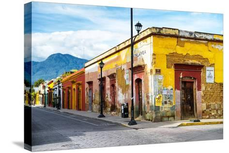 ¡Viva Mexico! Collection - Oaxaca City Street-Philippe Hugonnard-Stretched Canvas Print