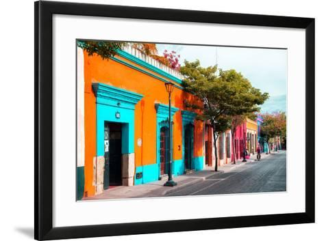 ¡Viva Mexico! Collection - Colorful Mexican Street IV - Oaxaca-Philippe Hugonnard-Framed Art Print