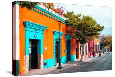 ¡Viva Mexico! Collection - Colorful Mexican Street IV - Oaxaca-Philippe Hugonnard-Stretched Canvas Print