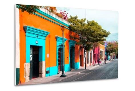 ¡Viva Mexico! Collection - Colorful Mexican Street IV - Oaxaca-Philippe Hugonnard-Metal Print
