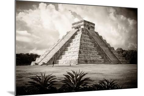 ¡Viva Mexico! B&W Collection - El Castillo Pyramid I - Chichen Itza-Philippe Hugonnard-Mounted Photographic Print