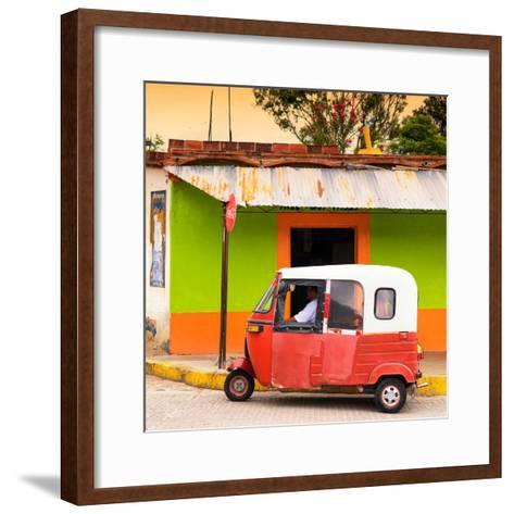 ¡Viva Mexico! Square Collection - Mexican Tuk Tuk-Philippe Hugonnard-Framed Art Print