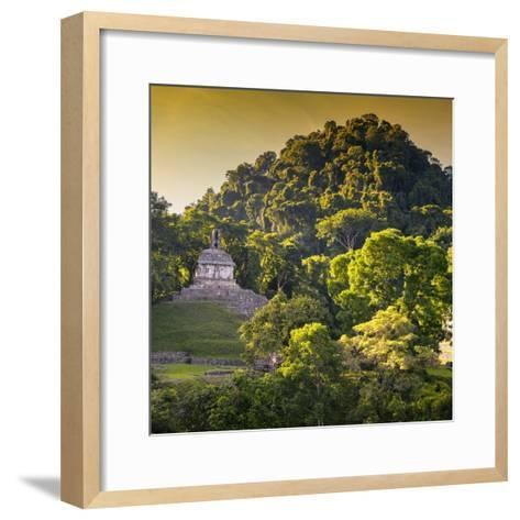¡Viva Mexico! Square Collection - Mayan Temple at Sunrise III-Philippe Hugonnard-Framed Art Print