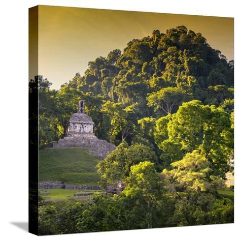 ¡Viva Mexico! Square Collection - Mayan Temple at Sunrise III-Philippe Hugonnard-Stretched Canvas Print