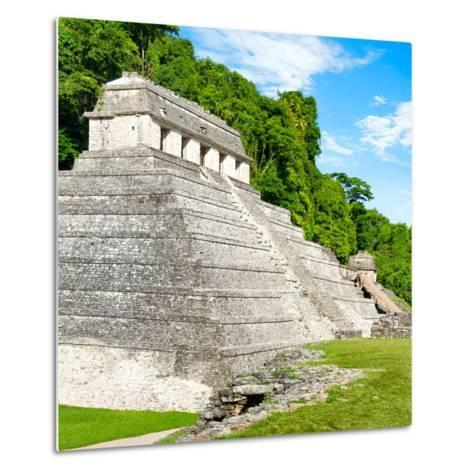 ¡Viva Mexico! Square Collection - Temple of Inscriptions in Palenque-Philippe Hugonnard-Metal Print