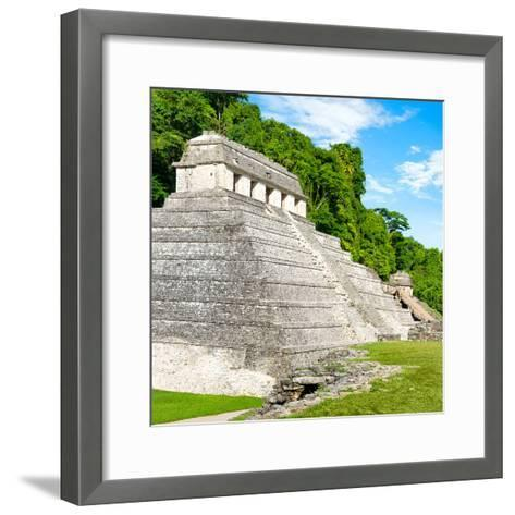 ¡Viva Mexico! Square Collection - Temple of Inscriptions in Palenque-Philippe Hugonnard-Framed Art Print