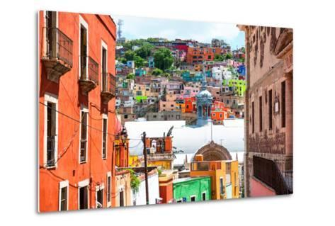 ¡Viva Mexico! Collection - Colorful Houses and Church Domes - Guanajuato-Philippe Hugonnard-Metal Print