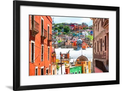 ¡Viva Mexico! Collection - Colorful Houses and Church Domes - Guanajuato-Philippe Hugonnard-Framed Art Print