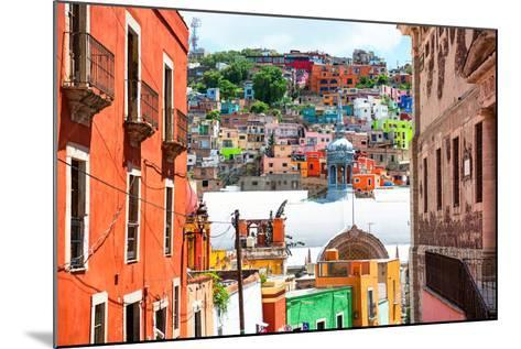 ¡Viva Mexico! Collection - Colorful Houses and Church Domes - Guanajuato-Philippe Hugonnard-Mounted Photographic Print