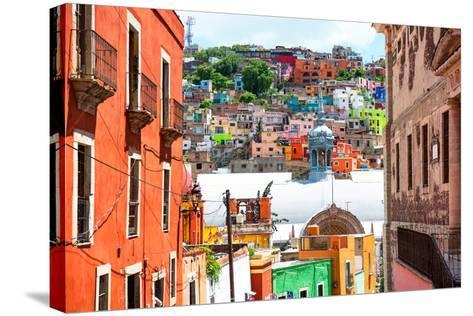 ¡Viva Mexico! Collection - Colorful Houses and Church Domes - Guanajuato-Philippe Hugonnard-Stretched Canvas Print