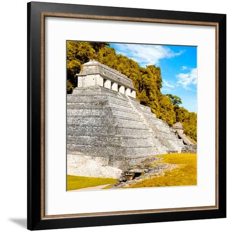 ¡Viva Mexico! Square Collection - Temple of Inscriptions in Palenque III-Philippe Hugonnard-Framed Art Print