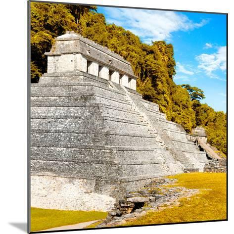¡Viva Mexico! Square Collection - Temple of Inscriptions in Palenque III-Philippe Hugonnard-Mounted Photographic Print