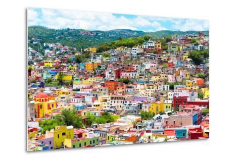 ¡Viva Mexico! Collection - Colorful Cityscape IX - Guanajuato-Philippe Hugonnard-Metal Print