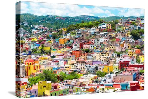 ¡Viva Mexico! Collection - Colorful Cityscape IX - Guanajuato-Philippe Hugonnard-Stretched Canvas Print