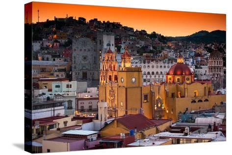 ¡Viva Mexico! Collection - Colorful City at Twilight - Guanajuato-Philippe Hugonnard-Stretched Canvas Print