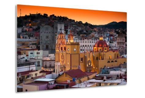 ¡Viva Mexico! Collection - Colorful City at Twilight - Guanajuato-Philippe Hugonnard-Metal Print