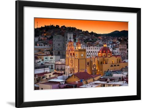 ¡Viva Mexico! Collection - Colorful City at Twilight - Guanajuato-Philippe Hugonnard-Framed Art Print