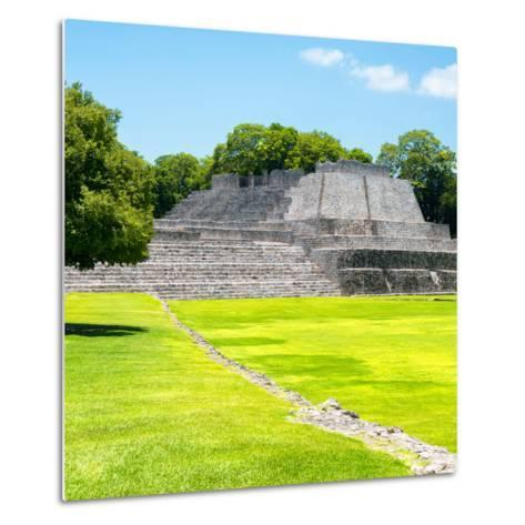 ¡Viva Mexico! Square Collection - Mayan Ruins in Edzna I-Philippe Hugonnard-Metal Print
