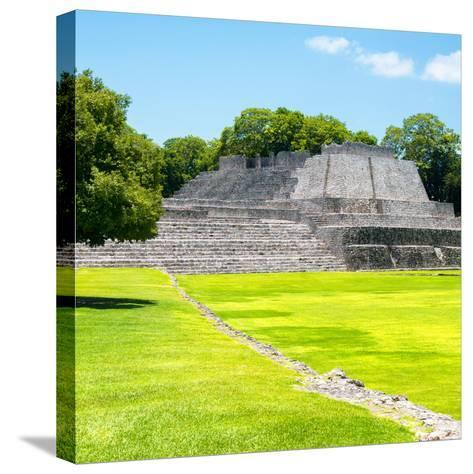 ¡Viva Mexico! Square Collection - Mayan Ruins in Edzna I-Philippe Hugonnard-Stretched Canvas Print