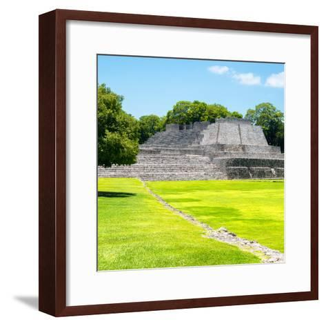 ¡Viva Mexico! Square Collection - Mayan Ruins in Edzna I-Philippe Hugonnard-Framed Art Print