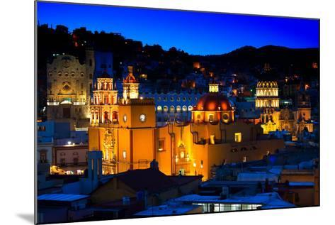¡Viva Mexico! Collection - Colorful City at Night - Guanajuato-Philippe Hugonnard-Mounted Photographic Print