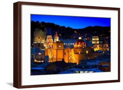 ¡Viva Mexico! Collection - Colorful City at Night - Guanajuato-Philippe Hugonnard-Framed Art Print