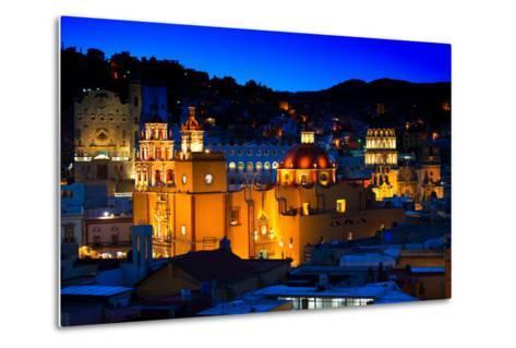 ¡Viva Mexico! Collection - Colorful City at Night - Guanajuato-Philippe Hugonnard-Metal Print