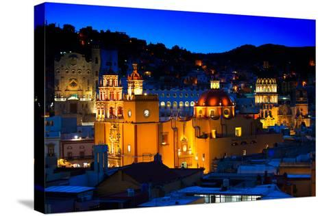 ¡Viva Mexico! Collection - Colorful City at Night - Guanajuato-Philippe Hugonnard-Stretched Canvas Print