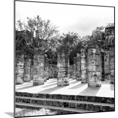 ¡Viva Mexico! Square Collection - One Thousand Mayan Columns in Chichen Itza V-Philippe Hugonnard-Mounted Photographic Print
