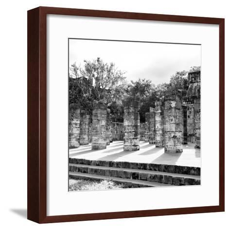 ¡Viva Mexico! Square Collection - One Thousand Mayan Columns in Chichen Itza V-Philippe Hugonnard-Framed Art Print