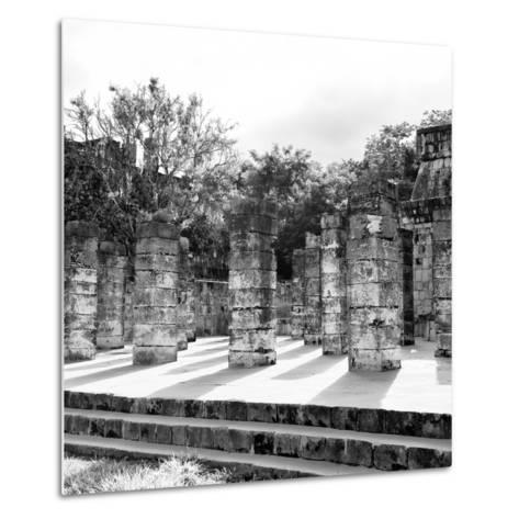 ¡Viva Mexico! Square Collection - One Thousand Mayan Columns in Chichen Itza V-Philippe Hugonnard-Metal Print